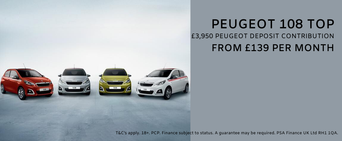 Four new Peugeot 108 cars