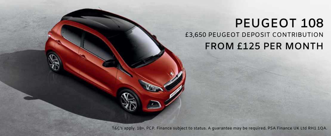 New PEUGEOT 108 in red on offer