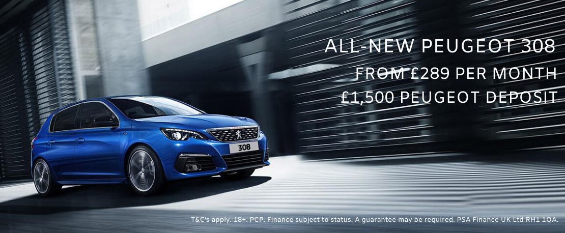 All New Peugeot 308 SW in blue