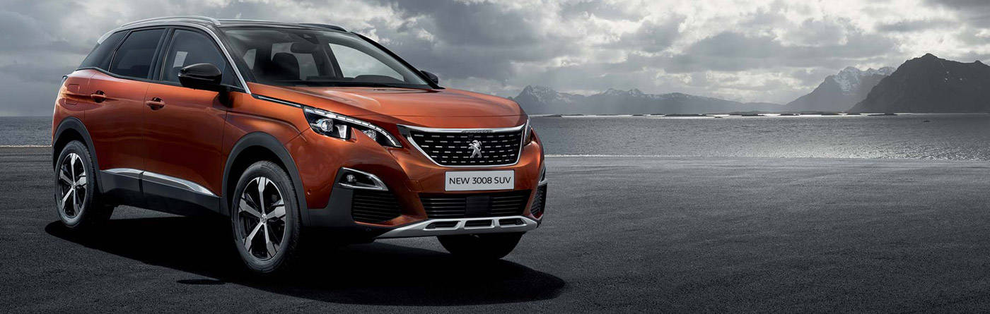 Front view of the Peugeot 3008 SUV