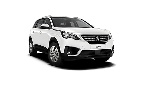 New Peugeot 5008 SUV in white